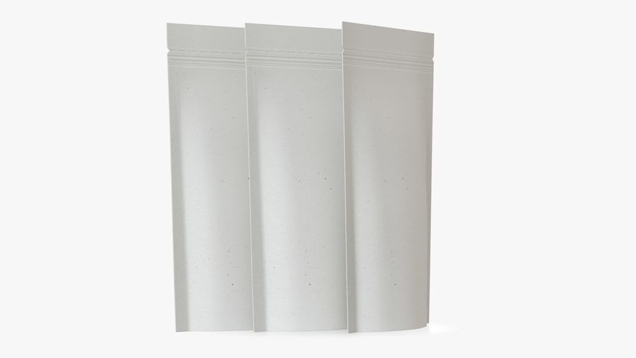 White Paper Sachet royalty-free 3d model - Preview no. 6