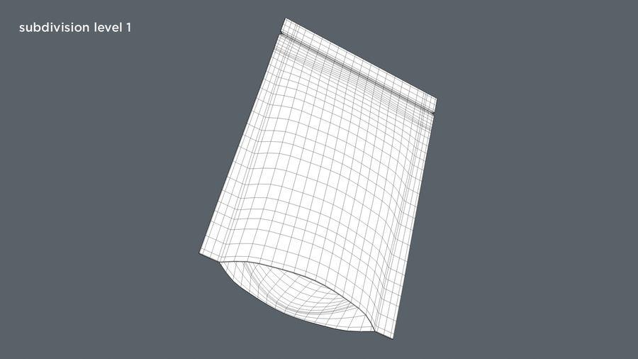 White Paper Sachet royalty-free 3d model - Preview no. 9