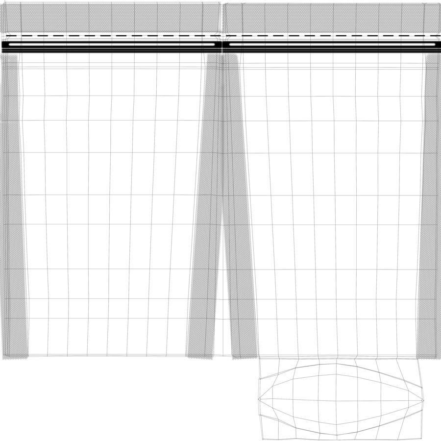 White Paper Sachet royalty-free 3d model - Preview no. 12