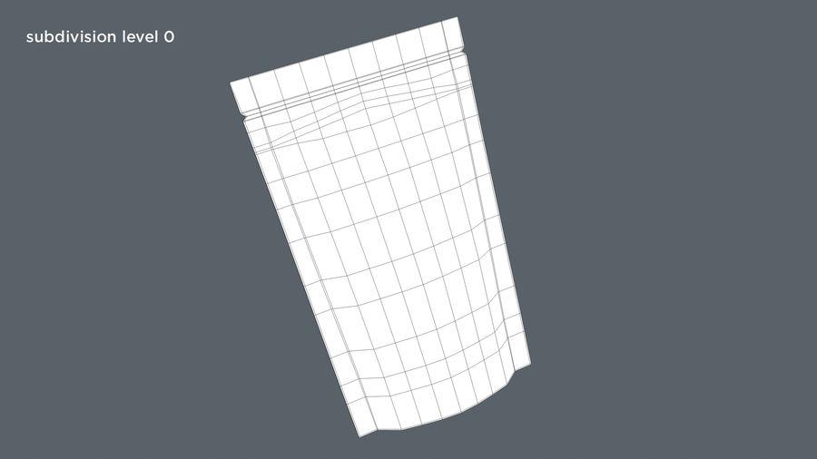 White Paper Sachet royalty-free 3d model - Preview no. 10