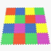 Azulejos de espuma de piso para niños modelo 3d