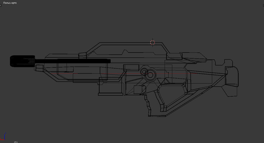 weapon rifle royalty-free 3d model - Preview no. 4