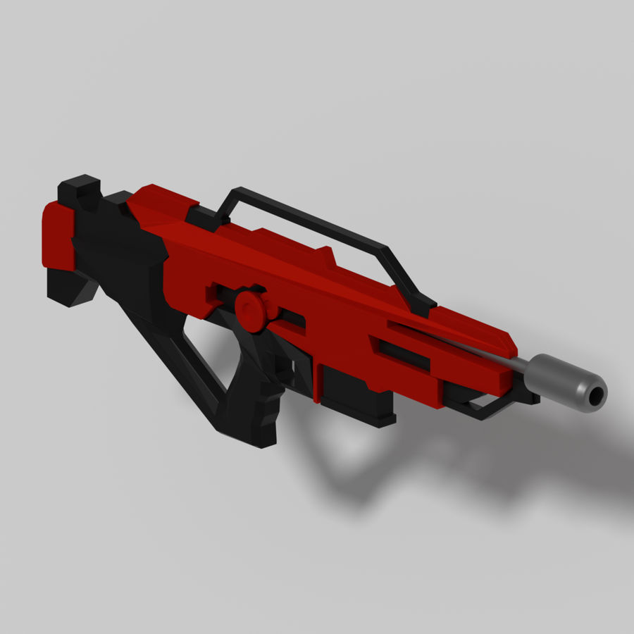 weapon rifle royalty-free 3d model - Preview no. 2