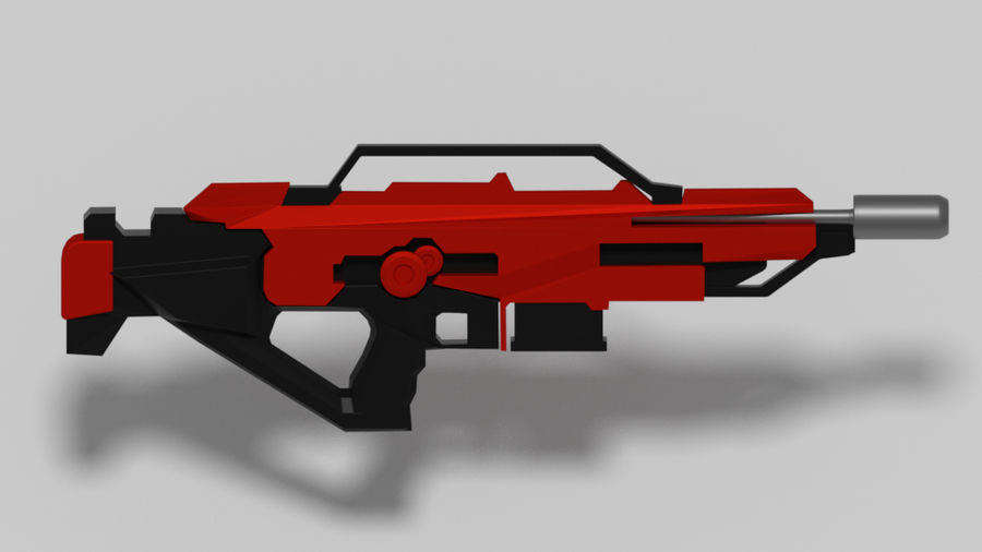 weapon rifle royalty-free 3d model - Preview no. 1