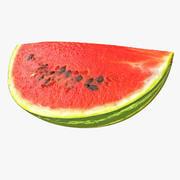 Watermelon Quarter Slice Realistic v2 3d model