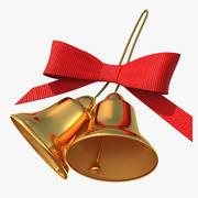 활과 휴일 크리스마스 벨 3d model