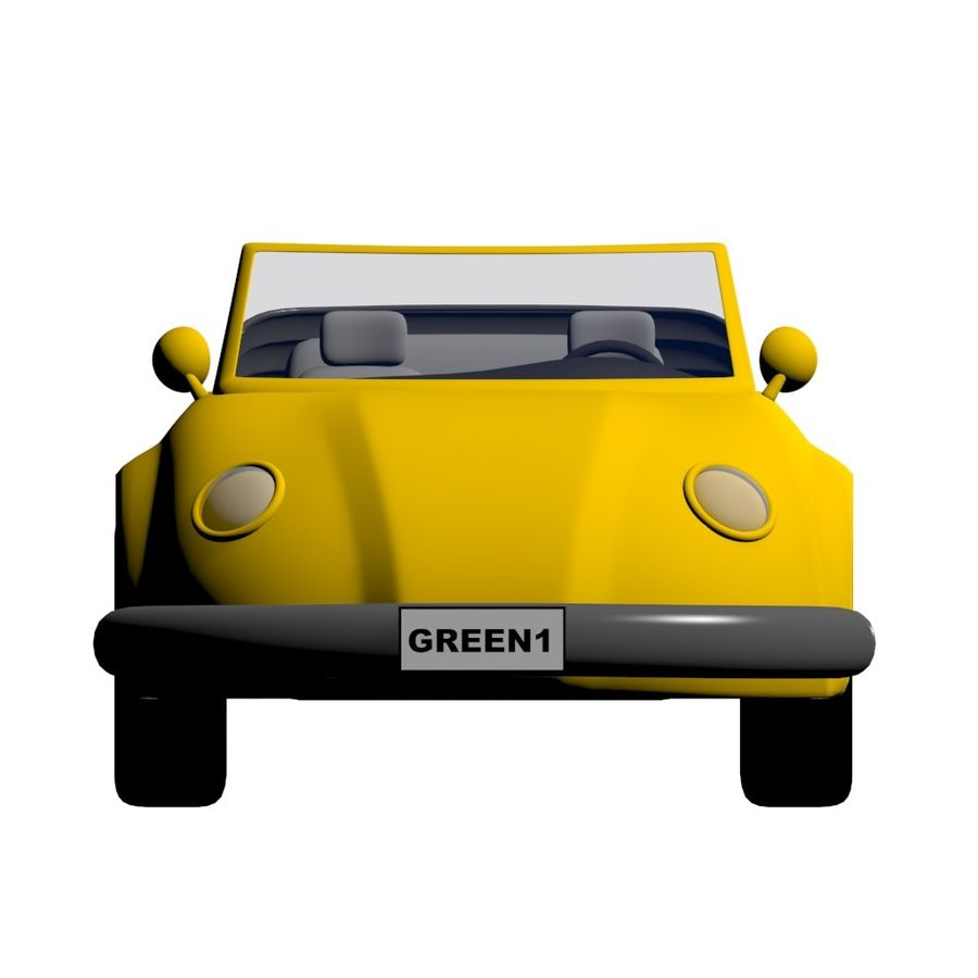 Voiture de dessin animé royalty-free 3d model - Preview no. 3