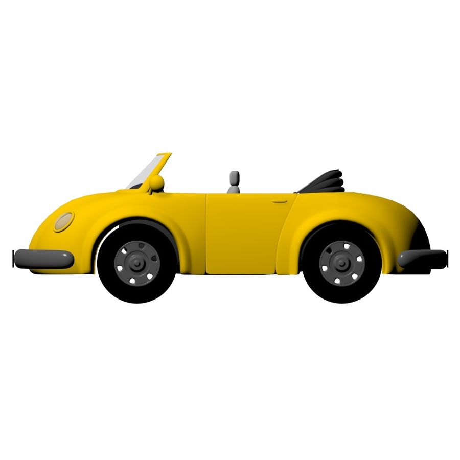 Cartoon-Auto royalty-free 3d model - Preview no. 2