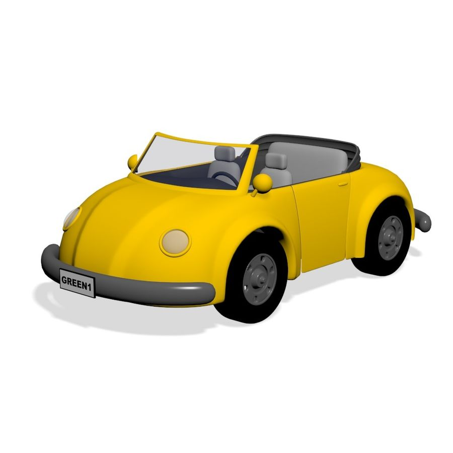Voiture de dessin animé royalty-free 3d model - Preview no. 1