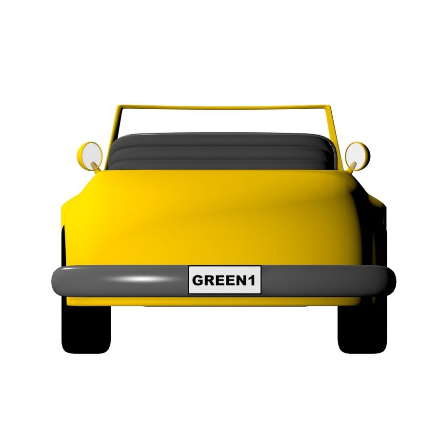 Voiture de dessin animé royalty-free 3d model - Preview no. 4