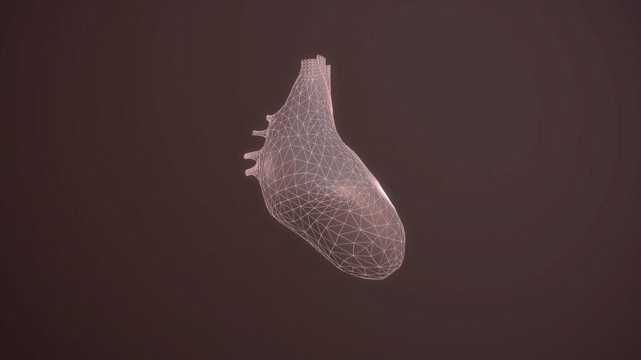 Animacja serca bicie serca narząd Model Low-poly 3D royalty-free 3d model - Preview no. 7