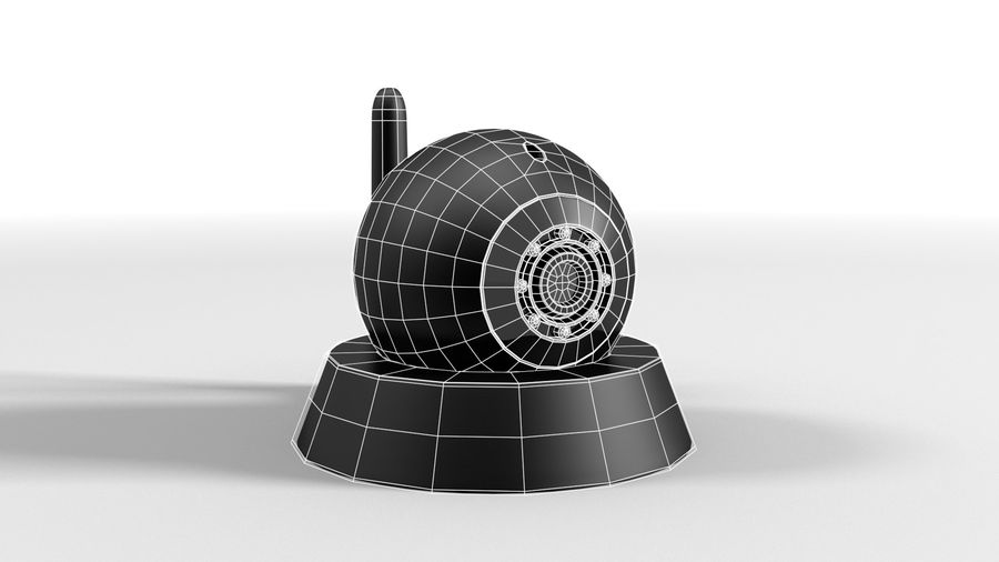 Cámara web con cámara IP CCTV royalty-free modelo 3d - Preview no. 4