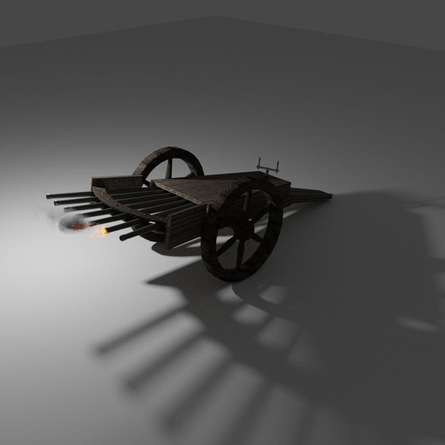 Machine Gun by Leonardo Da Vinci royalty-free 3d model - Preview no. 5