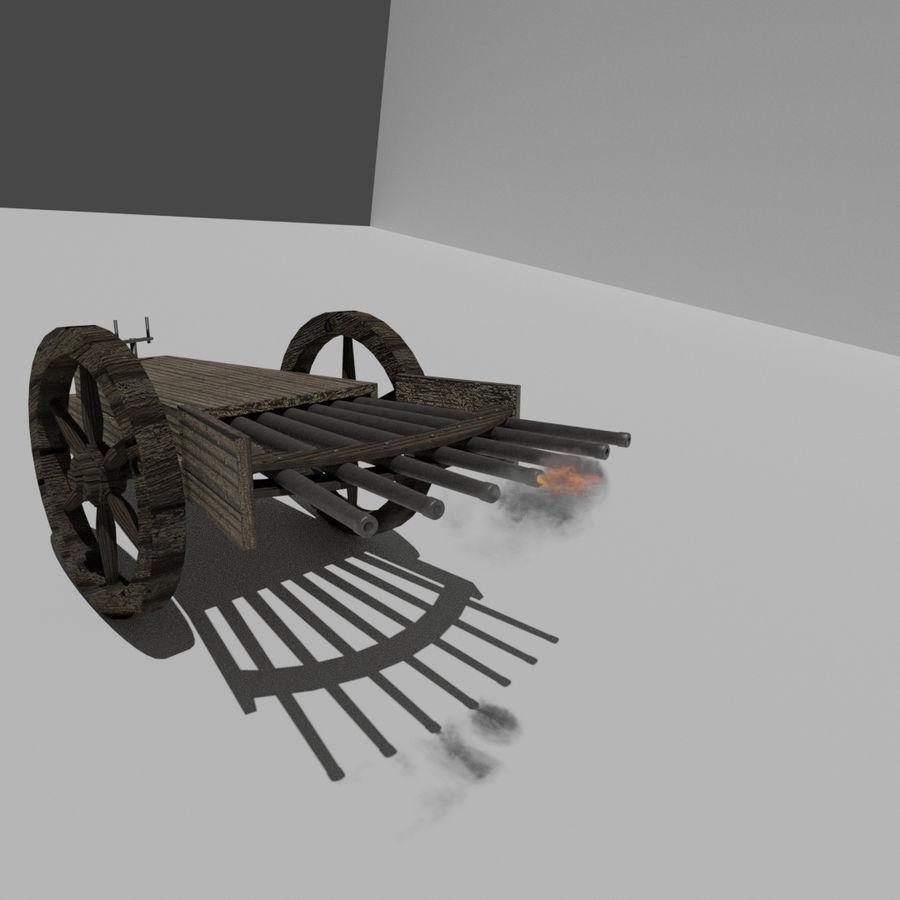 Machine Gun by Leonardo Da Vinci royalty-free 3d model - Preview no. 3