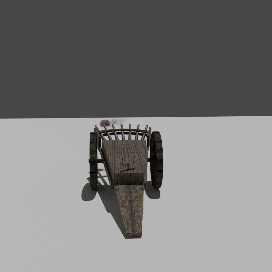 Machine Gun by Leonardo Da Vinci royalty-free 3d model - Preview no. 4