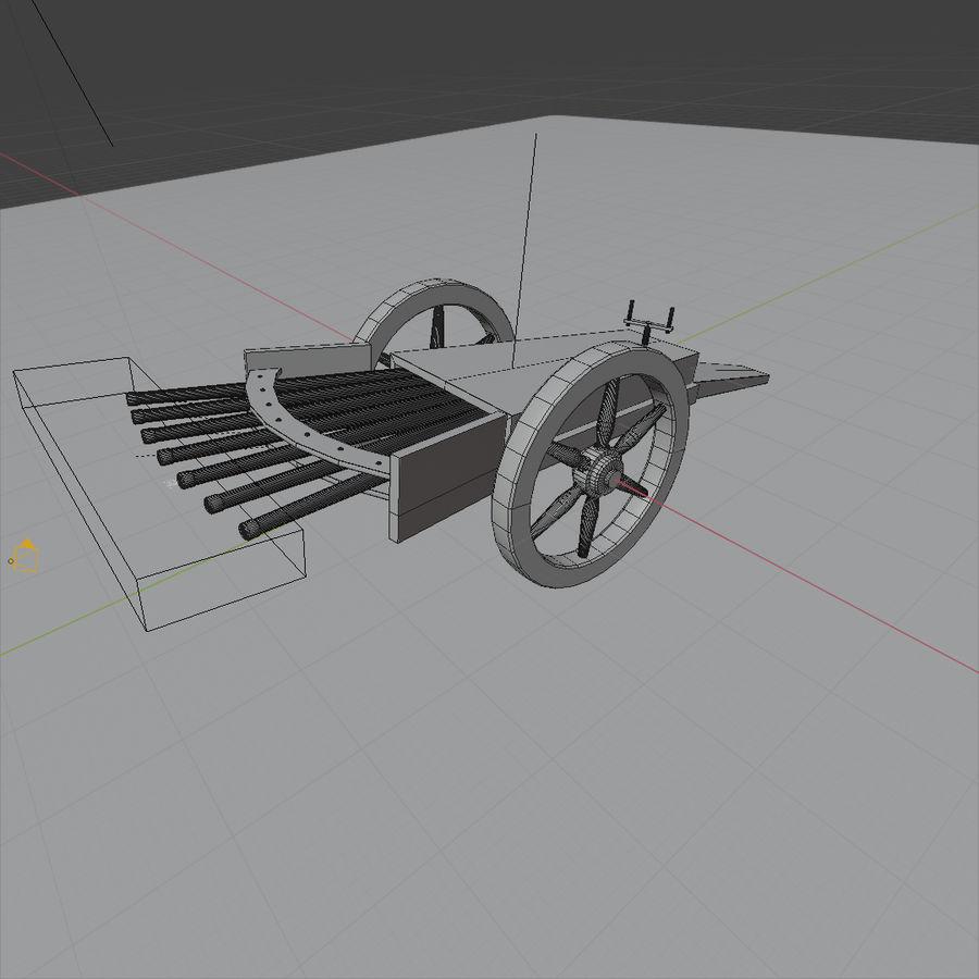 Machine Gun by Leonardo Da Vinci royalty-free 3d model - Preview no. 6