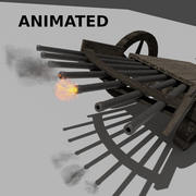 Leonardo Da Vinci의 기관총 3d model