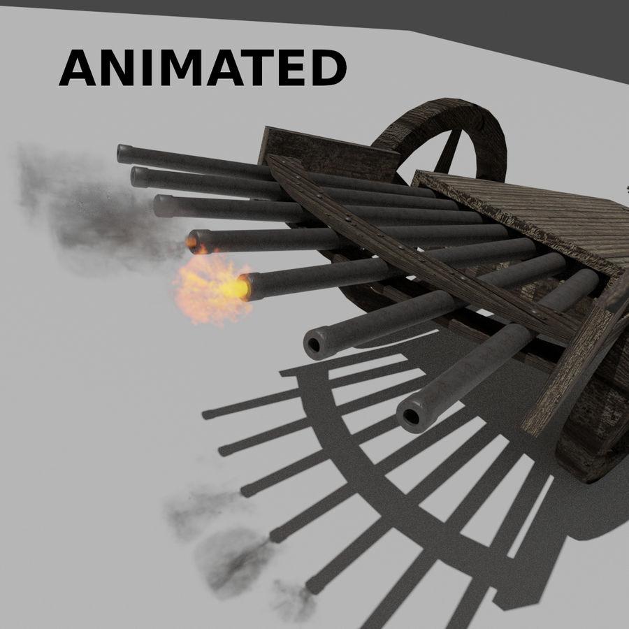 Machine Gun by Leonardo Da Vinci royalty-free 3d model - Preview no. 1