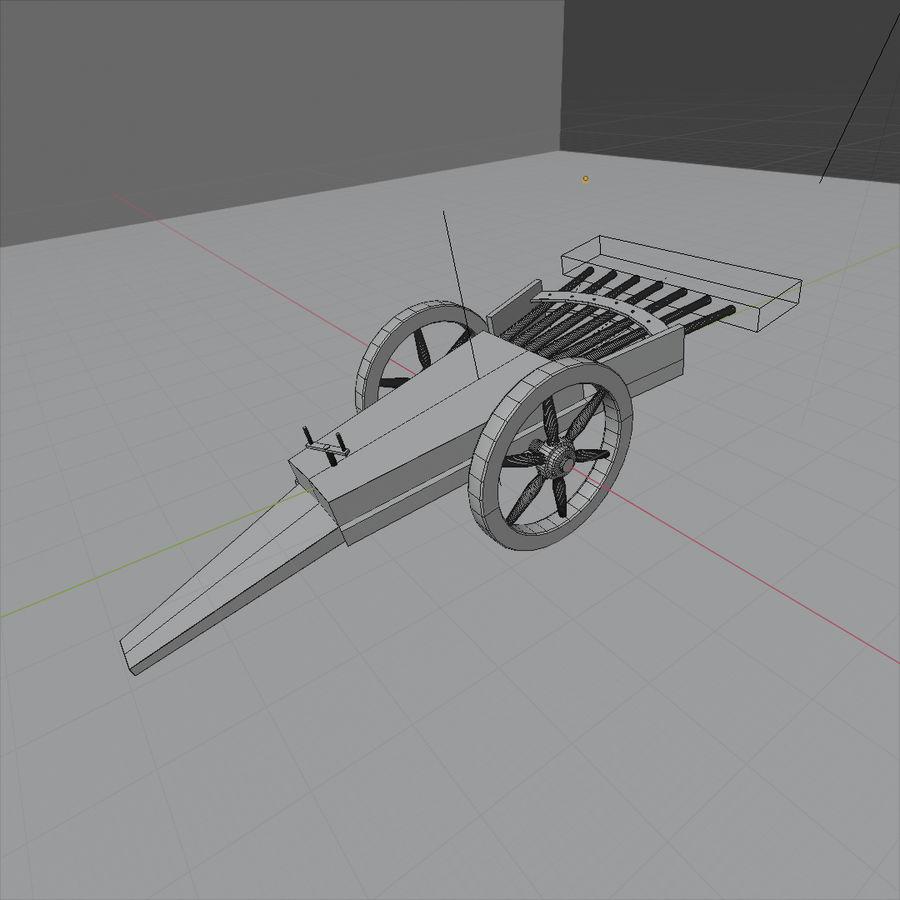 Machine Gun by Leonardo Da Vinci royalty-free 3d model - Preview no. 7