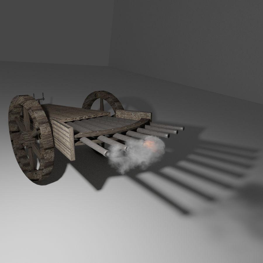 Machine Gun by Leonardo Da Vinci royalty-free 3d model - Preview no. 2
