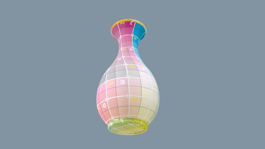 Pot de fleur royalty-free 3d model - Preview no. 13