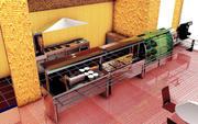 Cafeteria 3d model