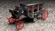 Lyxig hästvagn 3d model