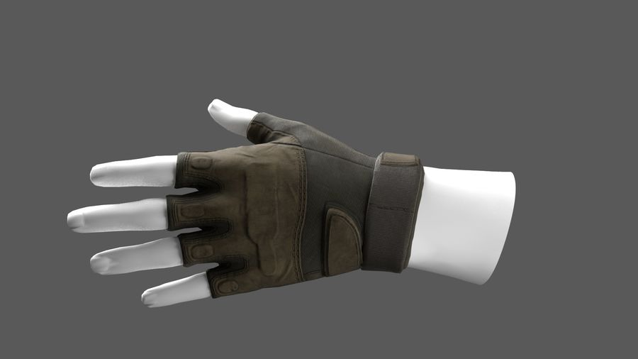 Tactical Glove royalty-free 3d model - Preview no. 7
