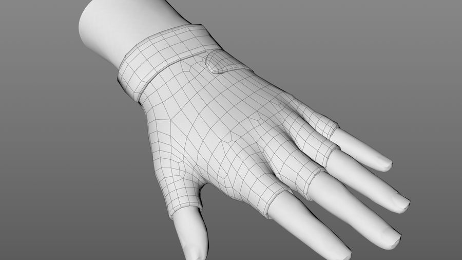 Tactical Glove royalty-free 3d model - Preview no. 10