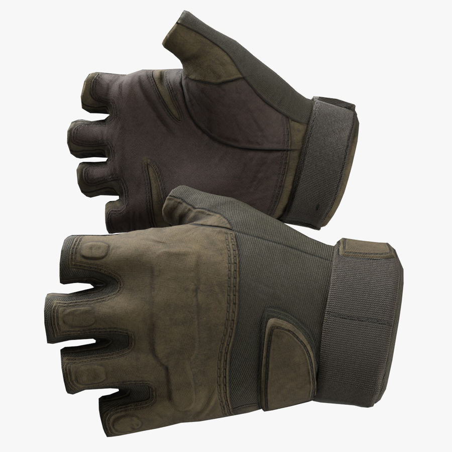 Tactical Glove royalty-free 3d model - Preview no. 1
