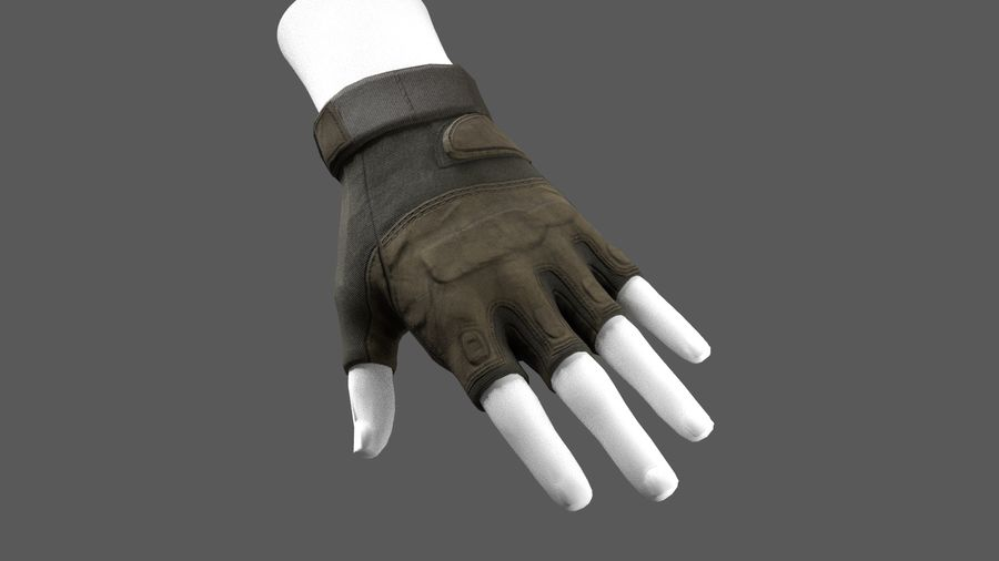 Tactical Glove royalty-free 3d model - Preview no. 4