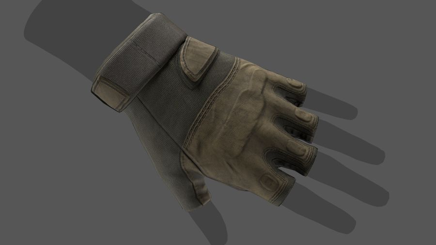 Tactical Glove royalty-free 3d model - Preview no. 9