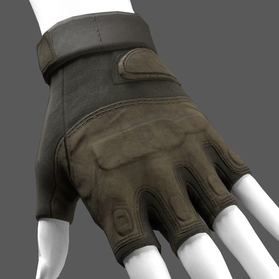 Tactical Glove royalty-free 3d model - Preview no. 2