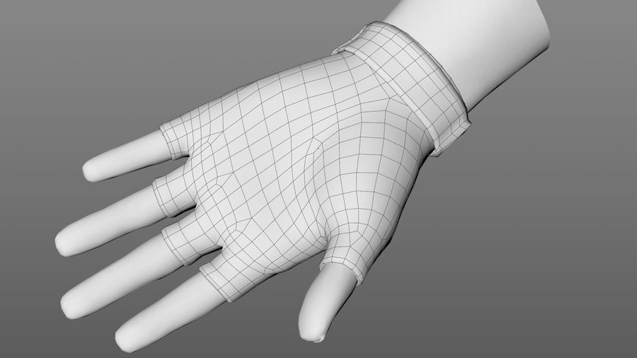 Tactical Glove royalty-free 3d model - Preview no. 12