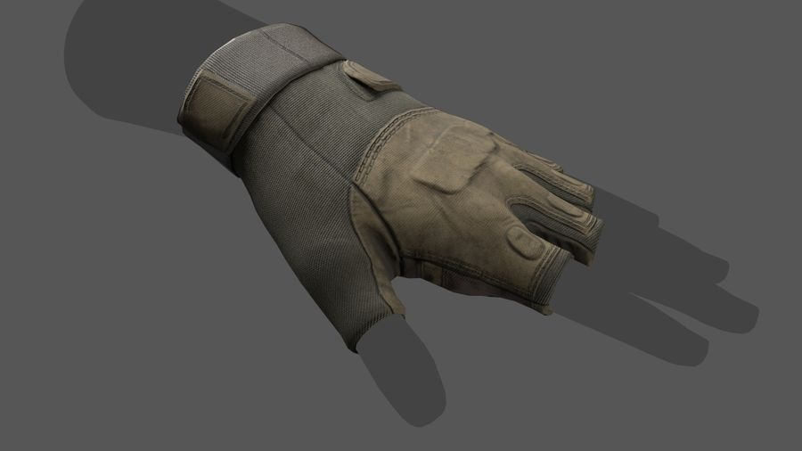 Tactical Glove royalty-free 3d model - Preview no. 8