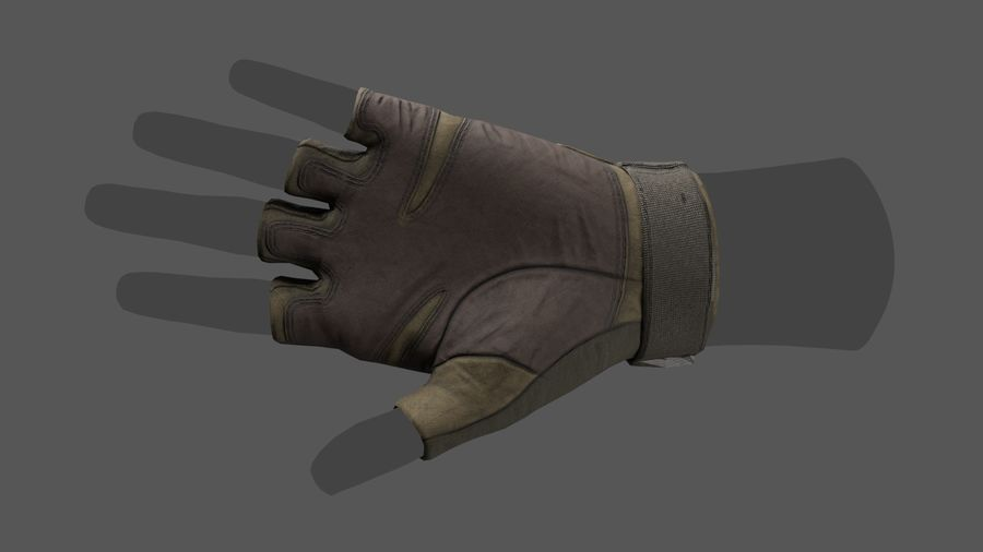 Tactical Glove royalty-free 3d model - Preview no. 3