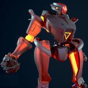 Desai Bot Anim Rig 3d model