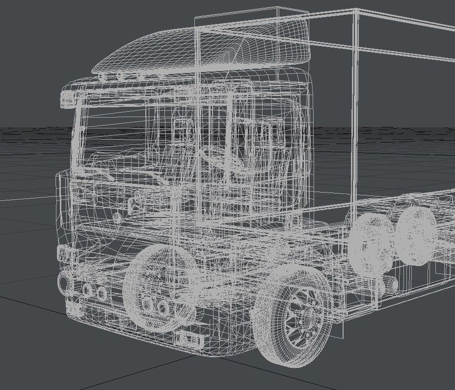 Truck royalty-free 3d model - Preview no. 6