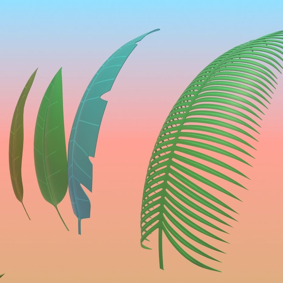 Stylized Tropical Leaves 3d Model 5 Obj Fbx Max Free3d These can be used in all your videos. stylized tropical leaves 3d model 5
