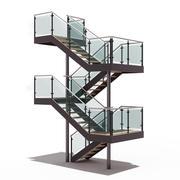 现代楼梯10 3d model