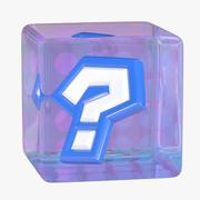 Mario Kart Item Box - Question Block 3d model