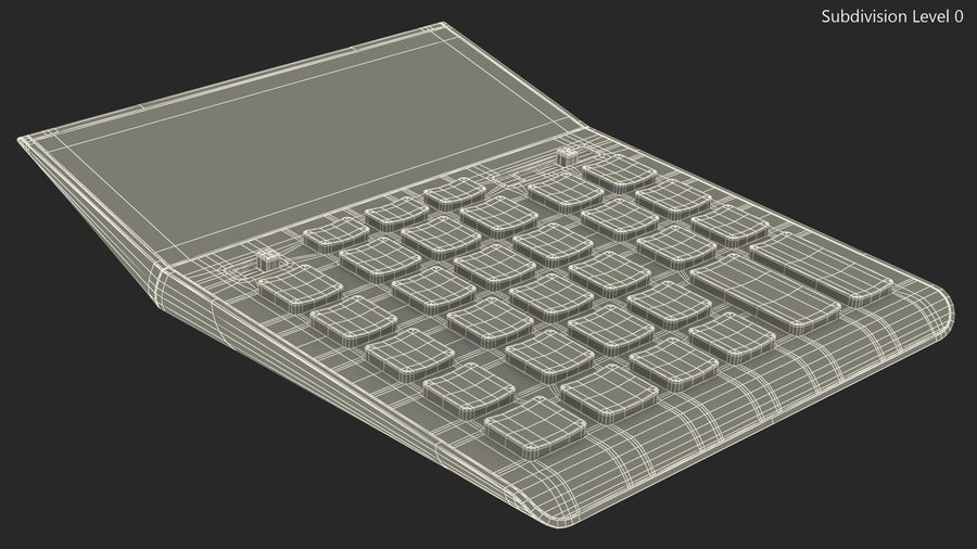 Teal Calculator Generic royalty-free 3d model - Preview no. 15