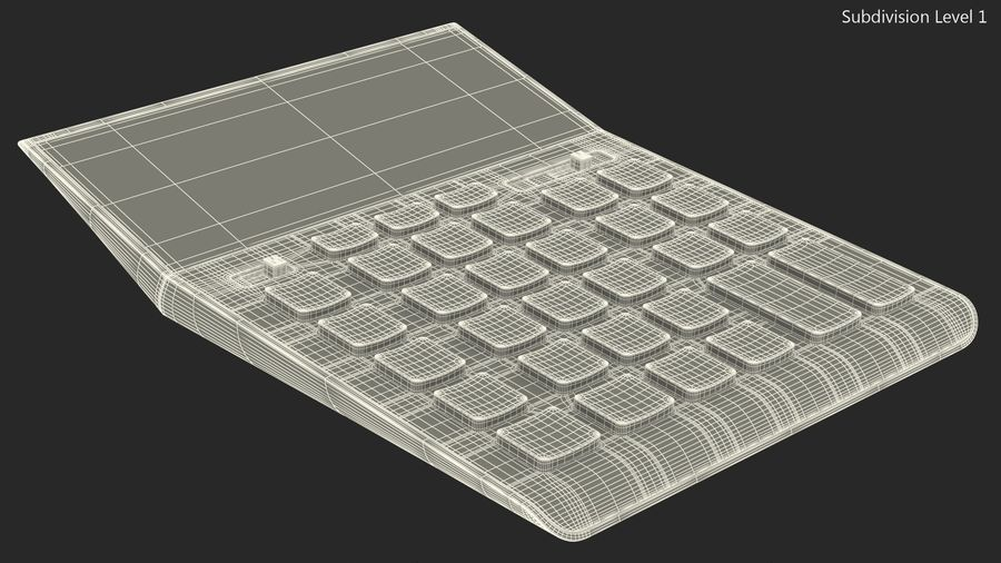 Teal Calculator Generic royalty-free 3d model - Preview no. 16