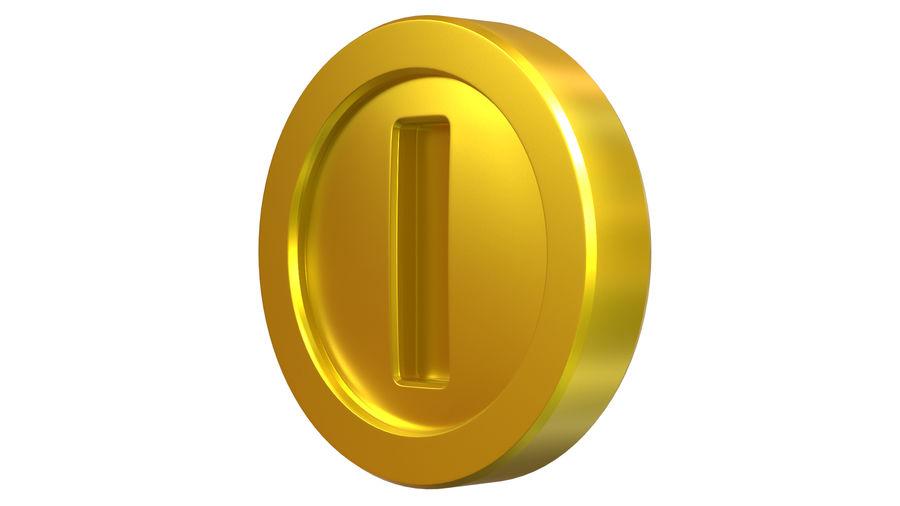 Gold Coin Mario royalty-free 3d model - Preview no. 2