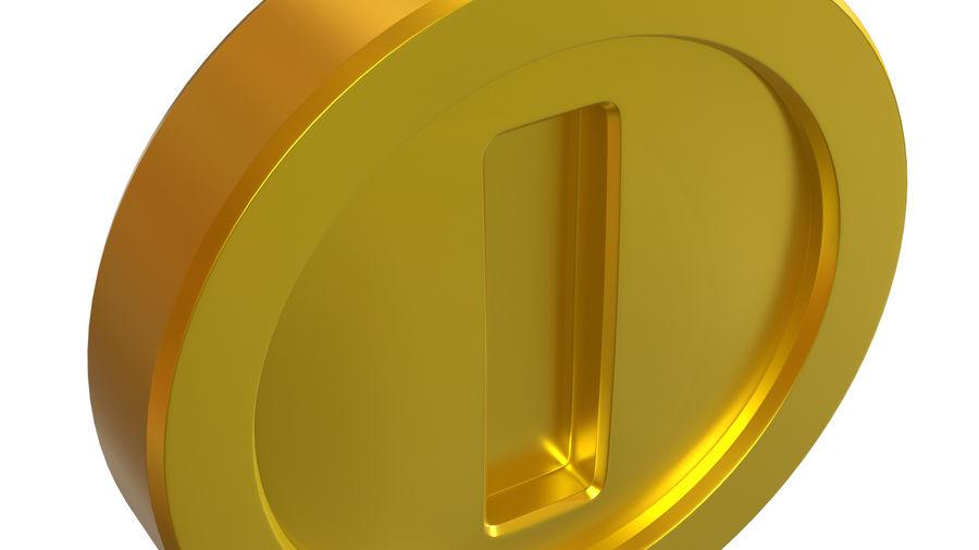 Gold Coin Mario royalty-free 3d model - Preview no. 5