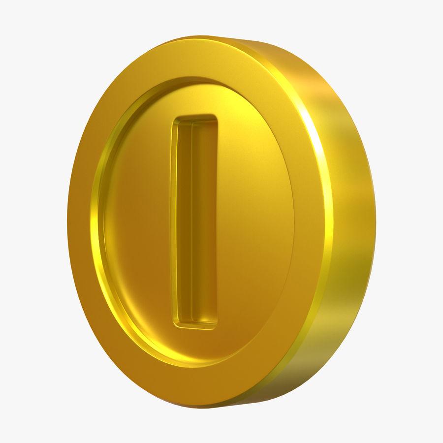 Gold Coin Mario royalty-free 3d model - Preview no. 1