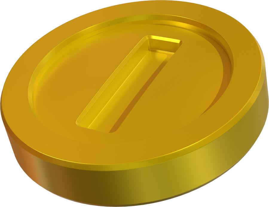 Gold Coin Mario royalty-free 3d model - Preview no. 4