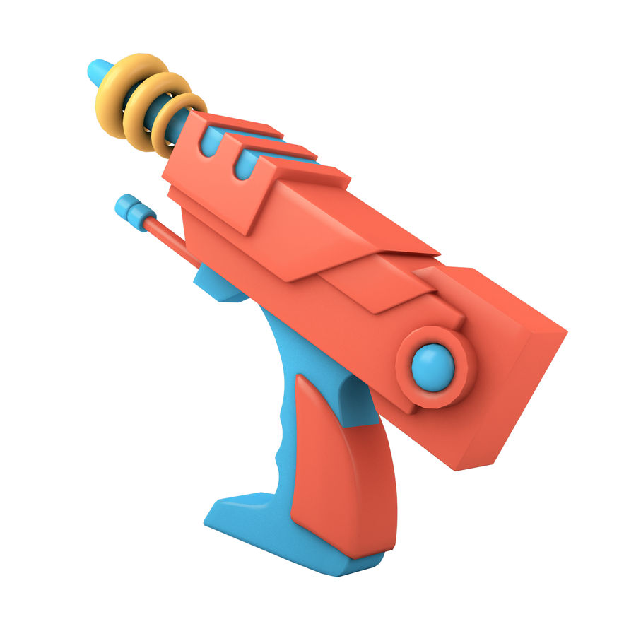 Cartoon Gun royalty-free 3d model - Preview no. 8