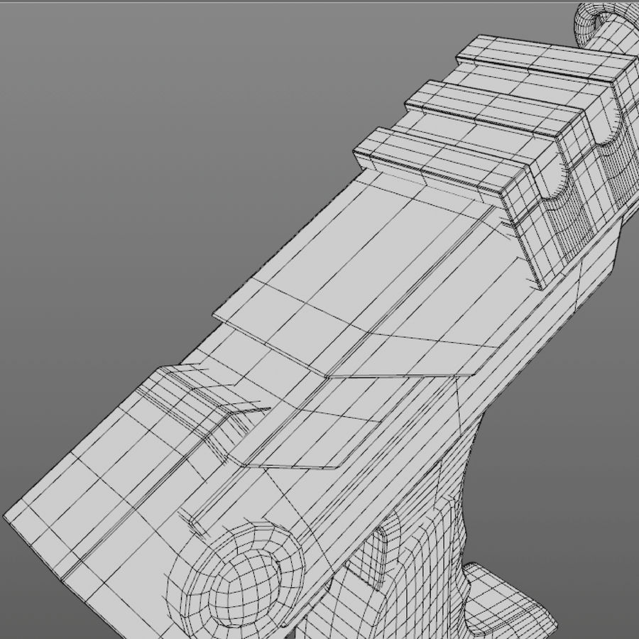 Cartoon Gun royalty-free 3d model - Preview no. 14