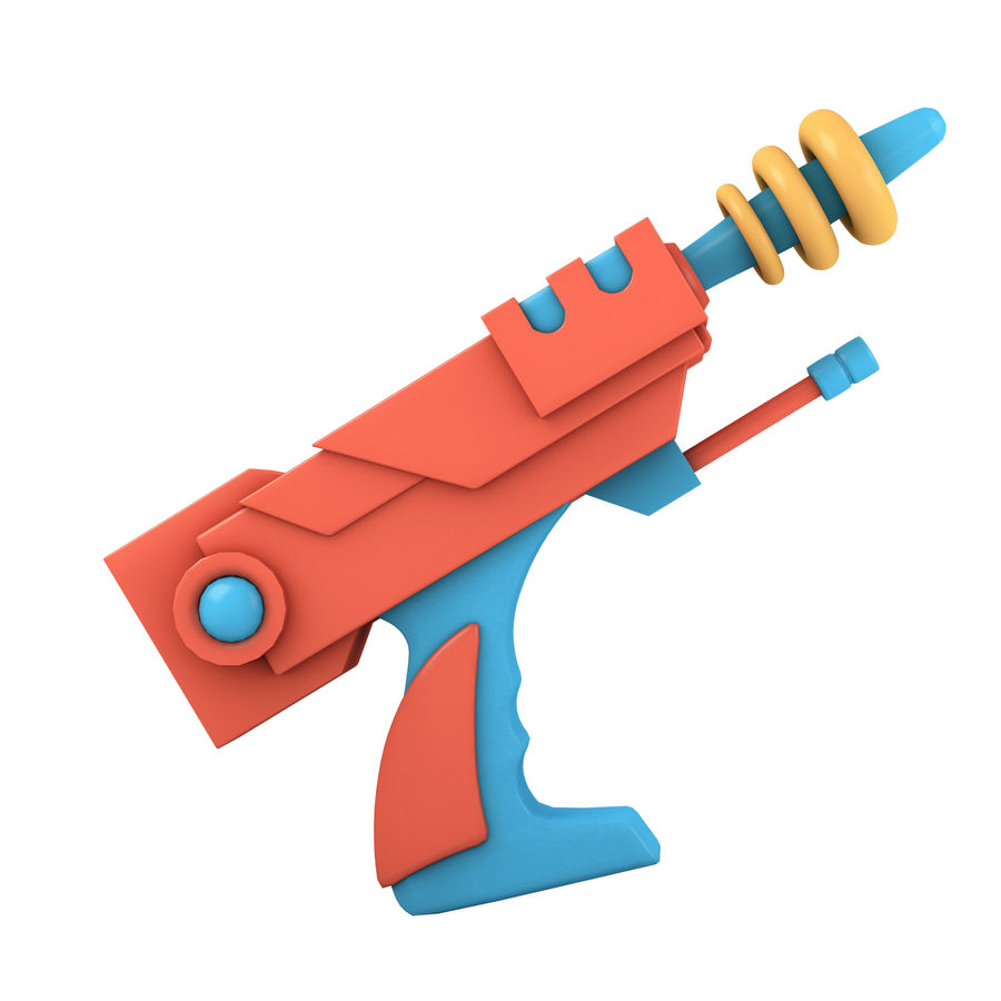 Cartoon Gun royalty-free 3d model - Preview no. 5